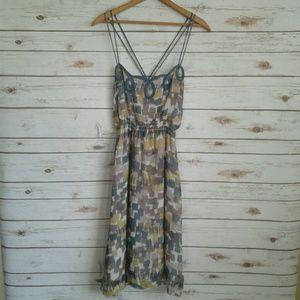 Wendy Katlen Silk Loops and Blocks Slip Dress
